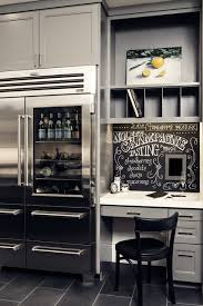 slate appliances with gray cabinets slate refrigerator home office traditional with bistro chair
