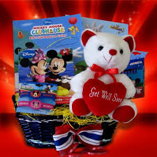 get well soon basket ideas mickey mouse basket