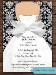 invitations for wedding damask bow bridal shower invitation wedding invitation black