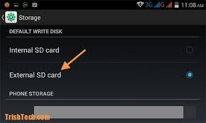 storage android how to change the default storage for android device