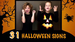 31 halloween signs asl american sign language youtube