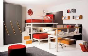 modern kids bedroom decorating ideas desk connected storage book