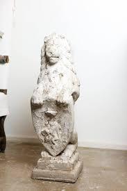 Architecturals by Antique Cast Concrete Architectural Lion Statues At 1stdibs
