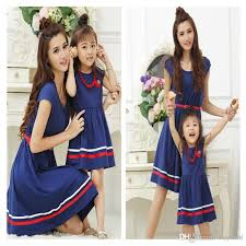 2017 summer family clothing dresses and