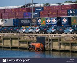 mazda new van line of brand new mazda 2 cars in the port of rotterdam due to the