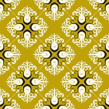 ornamental vintage pattern with damask motifs stock vector