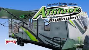 maverik u2014 attitude toy hauler monster energy edition youtube