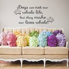 popular vinyl wall sticker printing buy cheap vinyl wall sticker they make our lives whole dogs paw prints wall sticker vinyl removable art home decor for