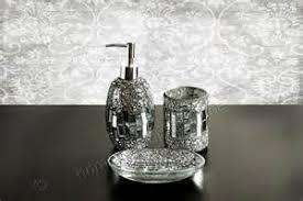 glass plus silver bathroom accessories tsc
