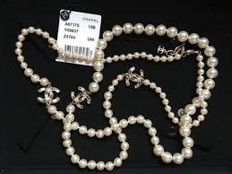 brand new pearl necklace images Chanel pearl classic white crystal cc necklace tradesy jpg