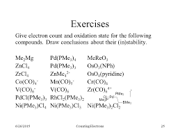 Electron Counting Organometallic Compounds Exles 6 26 2015counting Electrons1 Electron Count Oxidation State