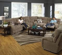 Sectional Recliner Sofas Catnapper Bryce Reclining Sectional Sofa With Cup Holders Efo