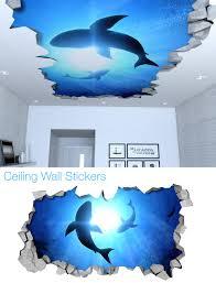 kids room wall decal etsy ceiling decal decor decoration celing art nursery stencil sharks sku shkcld