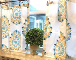 Fabric For Kitchen Curtains Kitchen Curtains Etsy