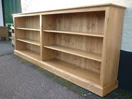 Pine Bookshelf Woodworking Plans by Long Low Bookcase Bookcases Wood Doherty House Long Low Bookcase