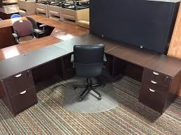 new cherry u0026 espresso laminate executive desks r u0026 m office