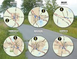Green Circle Trail Map Trail Map Central Lakes Trail