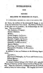 sketches relative to medicine in italy in a letter from a