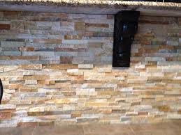 Best Stone Backsplash Images On Pinterest Stacked Stones - Layered stone backsplash