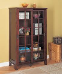 Bookcase With Glass Doors Pioneer Closed Bookcase With Glass Doors Home Interiors