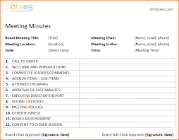 4 free meeting minutes template teknoswitch