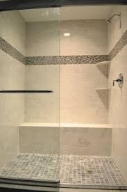 master bathroom shower ideas large charcoal black pebble tile border shower accent https www
