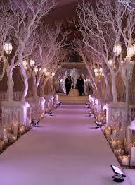 christmas branches with lights hermosa decoración tipo bosque para la ceremonia weddings