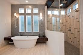 bathroom walk in shower designs bathroom with sleek bathtub and walk in shower stylish walk in