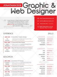 Web Designer Resume Sample Free Download by 25 Modern And Professional Resume Templates Ginva