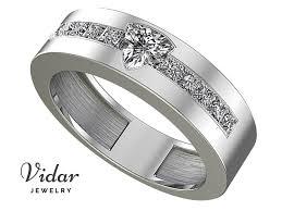 mens princess cut diamonds wedding ring vidar jewelry unique trillion cut wedding band for s vidar jewelry