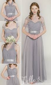 bridesmaid dresses tulle convertible multi wear bridesmaid dress tbqp307
