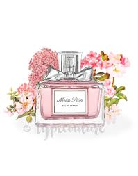 high fashion home decor watercolour miss dior perfume bottle art