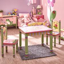 Guidecraft Princess Table And Chairs Fantasy Fields Magic Garden Kids 3 Piece Table U0026 Chair Set