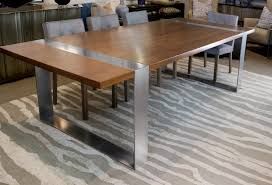 kitchen table wood dining room tables stainless steel top dining