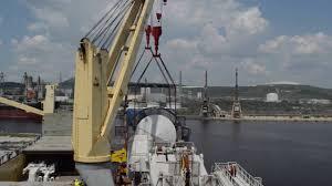 Pedestal Crane Shipment Of 900 Tons Huisman Offshore Pedestal Crane Youtube