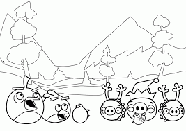 angry birds color coloring