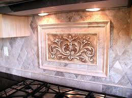 kitchen backsplash metal medallions decorative ceramic tiles kitchen tile inserts amazing inside 4