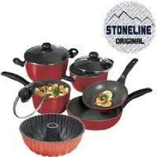 batterie de cuisine en stoneline stoneline set de 8 pieces en rubis et moule achat vente