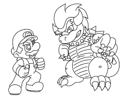 mario bowser coloring free printable coloring pages