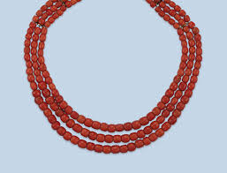 coral bead necklace images An antique coral bead necklace victorian traditional jewelry jpg