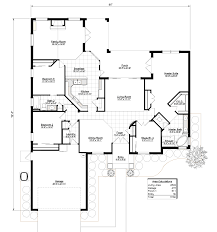 model 2303 4 br 2ba southern integrity enterprises inc perspective front elevation 2 2302 floor plan with dimensions