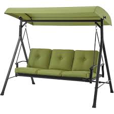Hammock With Stand And Canopy Mainstays Belden Park 3 Person Porch Swing Walmart Com