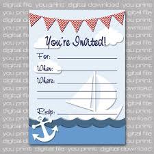 nautical baby shower invitations templates nautical baby shower