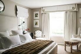 Pleated Valance Greek Key Pleated Valance Transitional Bedroom