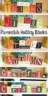 these reversible holiday blocks are so cute and save on storage