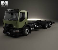 renault truck interior renault d wide chassis truck 3 axis with hq interior 2013 3d model
