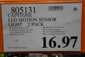 capstone wireless motion sensor light 2 pk costco clearance capstone led wireless motion sensor light 2 pack