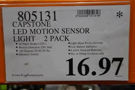 wireless motion sensor light model ct m201 costco clearance capstone led wireless motion sensor light 2 pack