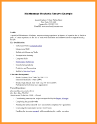 Maintenance Mechanic Resume Examples by Resume Summary For Maintenance Technician The Page 2 Of General