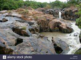 Rock Garden South by Rock Formations And Waterfall At Lowveld National Botanical Garden